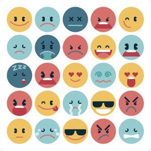simple flat emoji